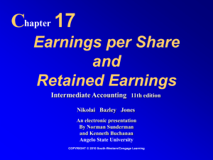 Earnings Per Share & Retained Earnings