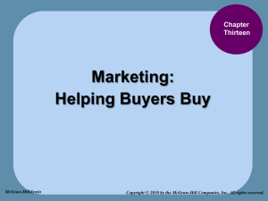 Chap 13a_Marketing - Helping Buyers Buy