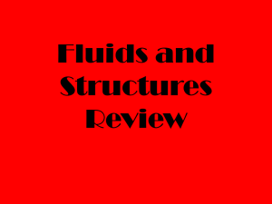 Fluids and Structures Review