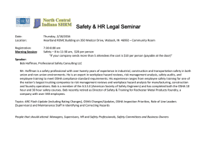 Safety, Workers Comp & HR Legal Seminar