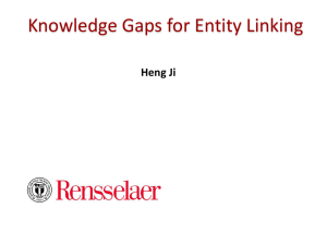 Relation Clustering, Entity Linking