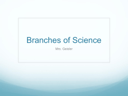 unit1.part2.iv.dv.branches of science