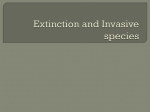 Extinction and Invasive species