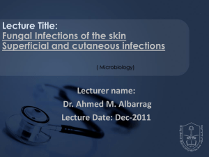 01 Fungal skin infections. MS block