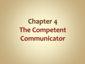 Competent Communication