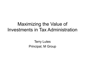 A desired state in tax administration