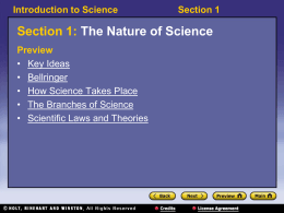 1.1 Nature of Science Powerpoint