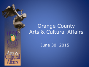 2015-06-30 Discussion Arts and Cultural Affairs Grants