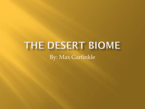 The Desert Biome - ashleyapenvironmentalscience