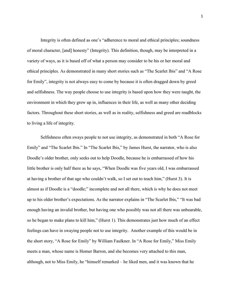 the scarlet ibis essay on pride