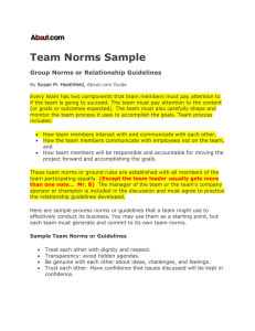 Sample Team Norms or Guidelines