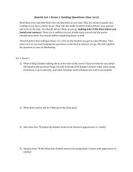 hamlet act 3 scene 1 soliloquy essay