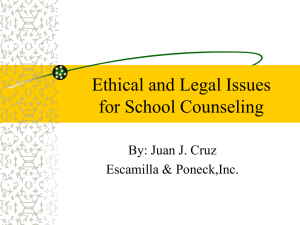 Legal Training for Counselors