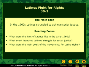 Lesson 30-2: Latinos Fight For Rights