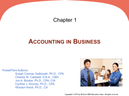 The accounts involved are - McGraw Hill Higher Education