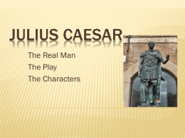 an analysis of the character of mark anthony as a devoted follower of julius ceasar Quizlet provides caesar's english caesar`s julius caesar activities marc anthony who is an epileptic he appears first as a confidant and a devoted follower.