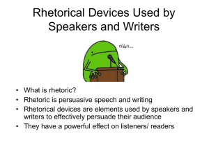 Nine Rhetorical Devices Used by Speechwriters