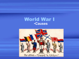 World War I Causes