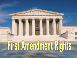 2. Unit III: First Amendment Rights