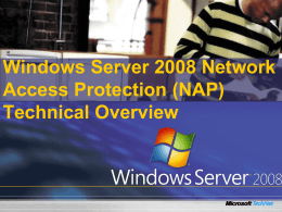 Windows Server 2008 Network Access Protection (NAP) Technical