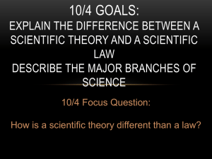 What is the difference between scientific theory and scientific law?