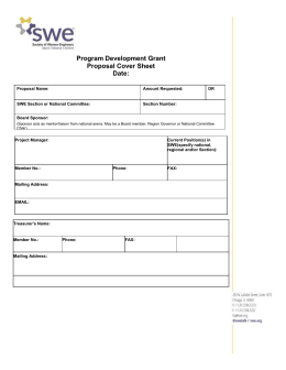 PDG Proposal Format with Cover Sheet