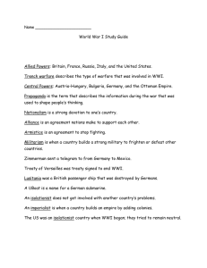 WWI Study Guide