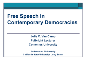 Freedom of Expression - California State University, Long Beach