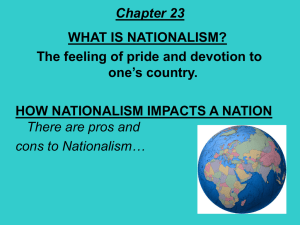 Chapter 23 WHAT IS NATIONALISM?