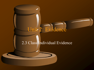 2.3 Ind-Class Evidence