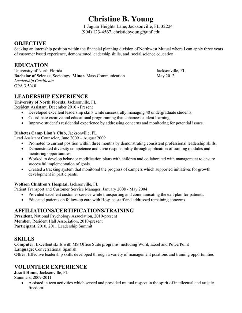 ra resume sample 2