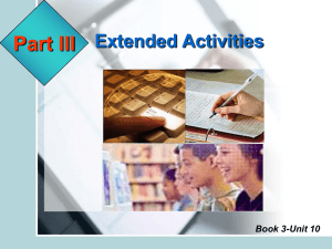 Extended Activities Book 3-Unit 10 Return to Menu Book 3