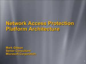 Network Access Protection Platform Architecture