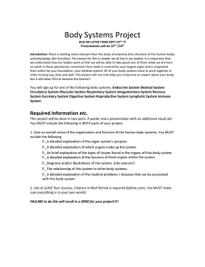 Body Systems Project