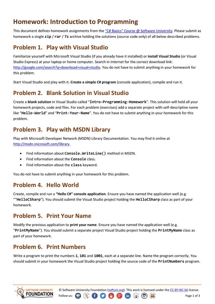 C# Basics - Homework