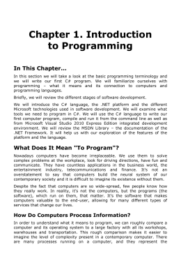 Chapter 1. Introduction to Programming