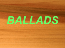 ballads - Jamestown School District