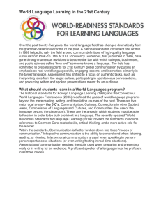 World Language Learning in the 21st Century