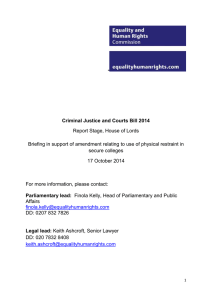 Criminal Justice and Courts Bill 2014: Report Stage, House of Lords