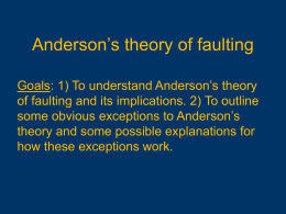 Anderson's theory of faulting