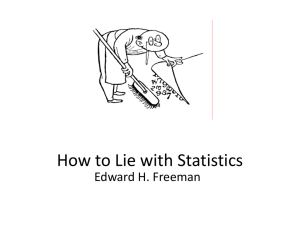 How to Lie with Stats