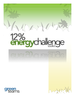 12% Energy Challenge Toolkit