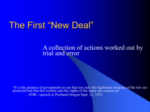 "The First ""New Deal"""