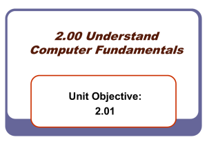 2.01 Computer Components PowerPoint