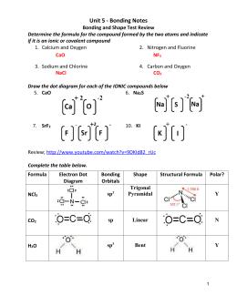 WS8-4 VSEPR Theory and...