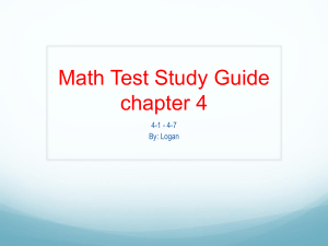 Math Test Study Guide chapter 4