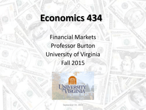 Economics 434 Financial Markets - SHANTI Pages