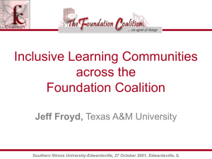 PowerPoint - Foundation Coalition