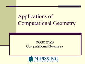 Applications of Computational Geometry (presentation by Dr. Mark