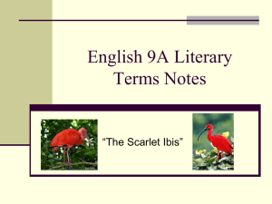 English 9A Literary Terms Notes